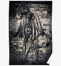 protective suit with gas mask Poster