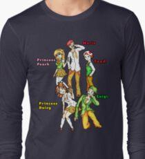 Manga Style Nintendo Mario Character Fan Art Long Sleeve T-Shirt