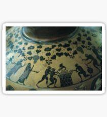 C7-C6 BC Etruscan Vase Villa Guilia Rome Italy 19840724 0014 Sticker