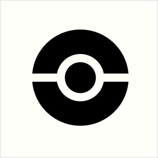 Pokémon Go Pokéball Symbol By Pokego Art Prints By Poke Go Redbubble