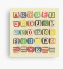 Vintage Alphabet Canvas Print