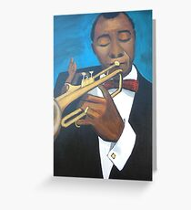 Louie Armstrong Greeting Card