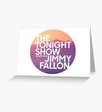 Sunset Jimmy Fallon Greeting Card