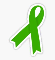 Green Awarness Ribbon Sticker