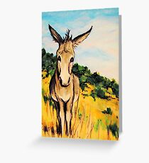 Cripple Creek Colorado~JackAss~Donkey~Burro~Whimsical Greeting Card