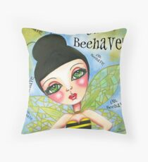 Oh Bee-Have! Throw Pillow