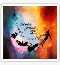 Nebula Never Grow Up Sticker