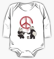 Pandalism 2 Peace Sign One Piece - Long Sleeve