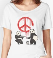 Pandalism 2 Peace Sign Women's Relaxed Fit T-Shirt