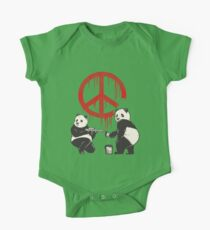 Pandalism 2 Peace Sign One Piece - Short Sleeve