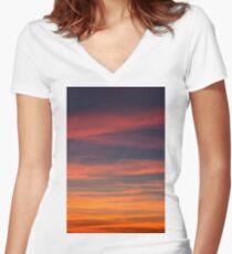 sky calm Women's Fitted V-Neck T-Shirt