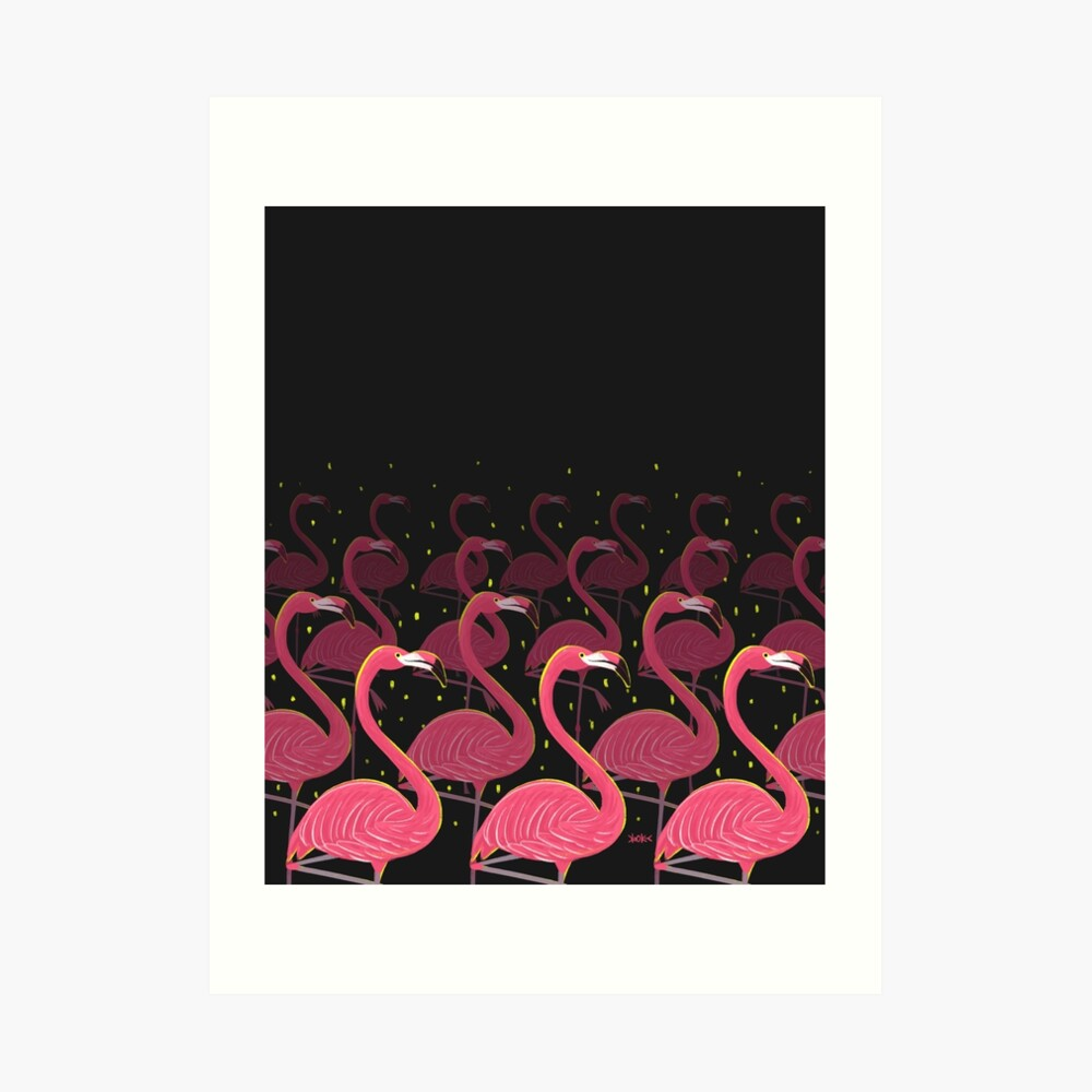 Flamingo March Art Print