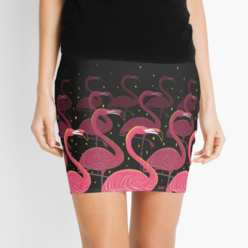 Flamingo March Mini Skirt