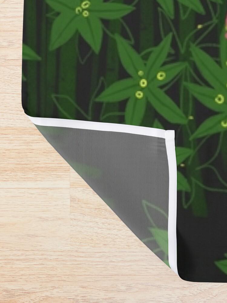 Alternate view of Flamingo Shower Curtain