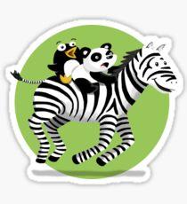 Black and White Buddies Sticker