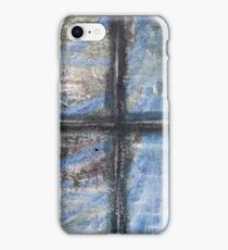 """Blue Window"" Artwork by Carter L. Shepard  iPhone Case/Skin"