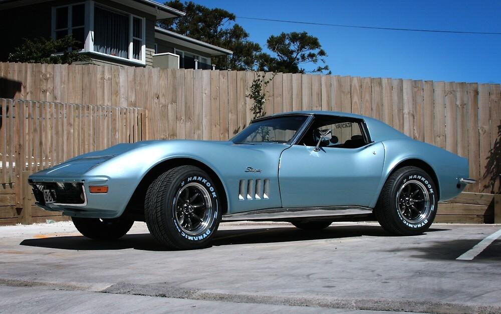 Classic Blue Corvette by Rikko