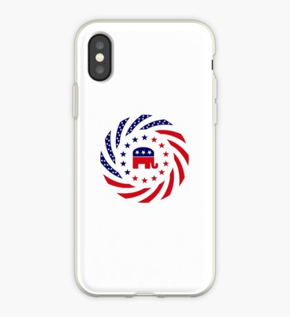 Republican Murican Patriot Flag Series iPhone Case