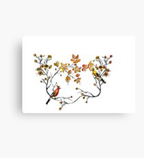 japanese flowers and birds Canvas Print