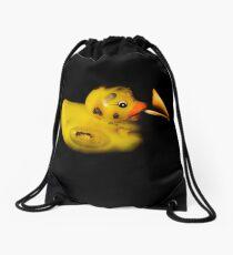 Burning Duck Drawstring Bag