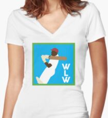 WLW logo big Women's Fitted V-Neck T-Shirt