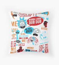 Morty & Rick  Throw Pillow