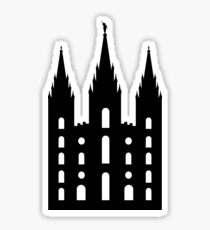 Salt Lake City Temple (black) - LDStreetwear Sticker