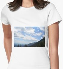 Natural scenery with mountains and cloudy sky. T-Shirt
