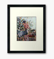 Woman in Summer Dress Framed Print