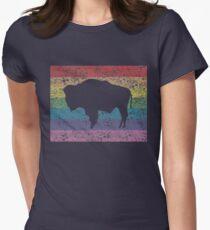 wyoming rainbow Women's Fitted T-Shirt