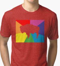 wyoming color burst Tri-blend T-Shirt