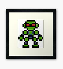 Pixel Vectorman Framed Print