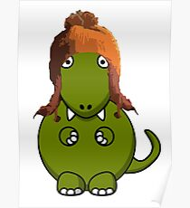 A Dinosaur in Jayne's Hat - Firefly Poster
