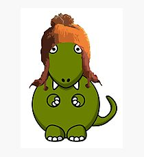 A Dinosaur in Jayne's Hat - Firefly Photographic Print