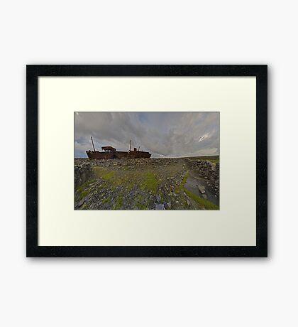 The Plassey - a wrectangular view Framed Print