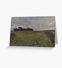 The Plassey - a wrectangular view Greeting Card