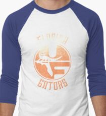 Vintage Florida Gators Design Men's Baseball ¾ T-Shirt