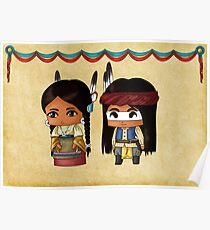 Chibi American Indians Poster