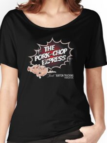 Pork Chop Express - Distressed Black Red Dot Variant Women's Relaxed Fit T-Shirt