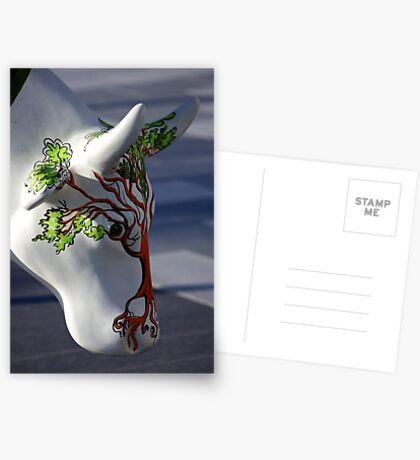 Cow with tree, Ebrington, Derry Greeting Card