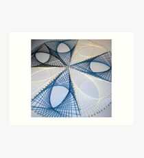 Overlapping Calculus Curves Art Print