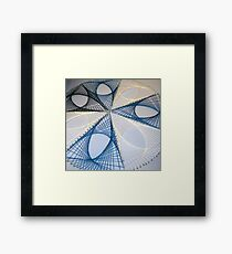 Overlapping Calculus Curves Framed Print