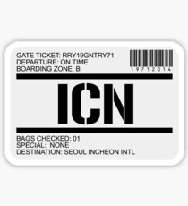 Seoul Korea airport destination stamp Sticker