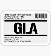 Glasgow Scotland airport destination stamp Sticker