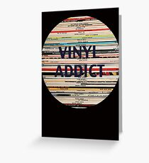 Vinyl Addict records Greeting Card