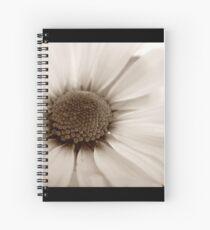 White Chrysanthemum sepia flower Spiral Notebook