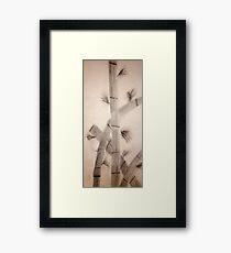 Sumi-E Close Up Segments and Leaves Framed Print