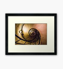 Spiral Staircase in the Arc de Triomphe Framed Print