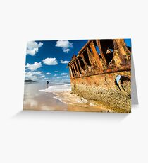 Fishing for Wrecks - SS Maheno Greeting Card