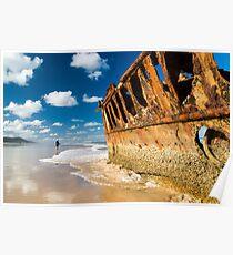 Fishing for Wrecks - SS Maheno Poster